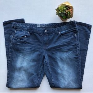 Mossimo Premium Denim Skinny Fit 3 Dark Wash Jeans
